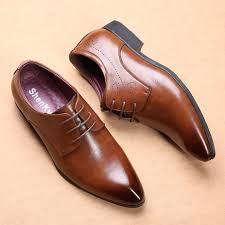 new fashion men s shoes men pu leather shoes men s flats formal shoes classic business dress shoes