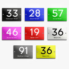 door number signs acrylic glass effect