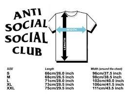 Anti Social Social Club Tee Size Chart Anti Social Club X Line Sally Duck Black Tee