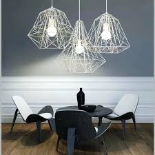 metal cage pendant light industrial style hive white black chandelier living room office bar fitting ceiling black white pendant light