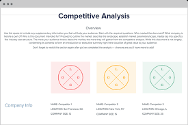 Competitive Analysis Matrix Template Competitive Analysis Template And Examples Xtensio