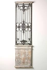 wrought iron and wood wall decor doors wrought iron wall decor with wood frame