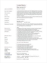 Resume Samples For Hair Stylist – Juicing