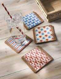use dishwasher safe mod podge to decoupage these unique drink coasters for summer get free