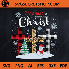 You will also receive 1 png file and 1. Christmas Begins With Christ Svg Cross Plaid Svg Cross Leopard Snowman Svg Svg Secret Shop