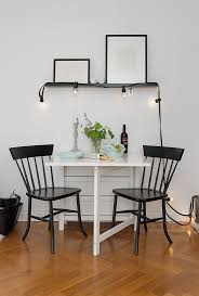 small dining room furniture. Enticing Dining Room Sets For Small Apartments With Smart Elements : Table Black Chairs Furniture