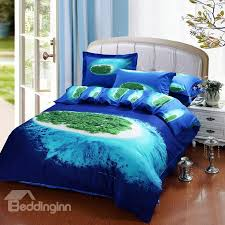 amazing tropical islands beach 4 piece bedding sets duvet cover with blue sheet remodel 18