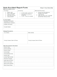 Accident Incident Report Form Template Vehicle Brochure Design