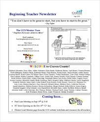 Teachers Newsletter Templates Sample Teacher Newsletter Template 7 Free Documents