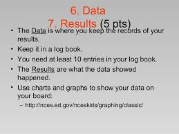 How To Make A Chart For A Science Fair Project Creating A Science Fair Project