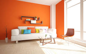 orange paint colour for living room