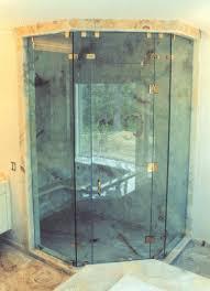 frameless neo angle steam shower door