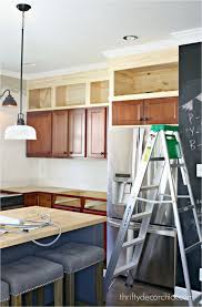 Diy Installing Kitchen Wall Cabinets Building Cabinets Up To The