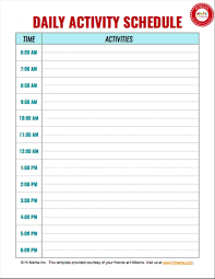 015 Baby Daily Routine Chart Template Ideas An Awesome