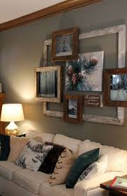 decorating diy rustic wall picture display diy wall