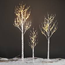 Title: EXCELVAN 2.1M/7FT 120LED Silver Birch Twig Tree Light, Decorative  Flexible Creative Warm White Light, White Branches, ...
