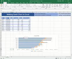Gantt Chart For Repeated Tasks Gantt Chart In Excel How To Free Template Online Gantt
