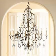 feiss valentina 36 1 2 wide oxidized bronze chandelier