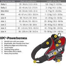 Julius K9 Power Harness Sizing Chart Julius K9 Idc Powerharness For Dogs