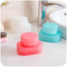 Best Bath Decor bathroom kit : Candy Color Sponge Travel Soap Dish Plate Bathroom Kit Traveling ...