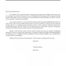 Cover Letter Sample For Registered Nurse Residency School Resume