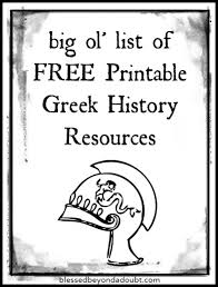 Small Picture Free Ancient Greece Printables for Your Homeschool History
