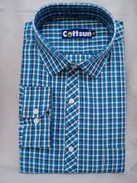 Chex Shirt Design Formal Shirt Blue White Cream Chex 100 Cotton Full