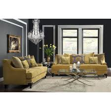 Furniture of America Visconti 2 piece Premium Velvet Sofa and