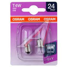 393002B <b>Лампа</b> 24V <b>T4W</b> BA9s блистер (2шт.) <b>OSRAM</b> - 3930 ...