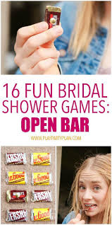 an open bar game is one of the most fun bridal shower games