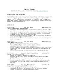Oncology Nurse Resume Registered Nurse Resume Templates Pediatric ...