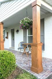 exterior column wraps. Porch Column Wraps How To Wrap Existing Columns In Stained Wood And Build A . Exterior