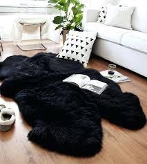 4x6 faux sheepskin rug quad 2