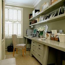 hallways office furniture. Home Office Floating Shelves House Books And Box Files In A Small Study, With Conran Shop Chairs Covered Comfortable Faux-suede. Hallways Furniture O