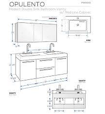 bathroom vanity dimensions