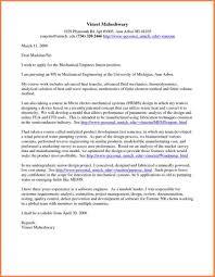 Civil Engineering Cover Letter Internship Entry Level Mechanical