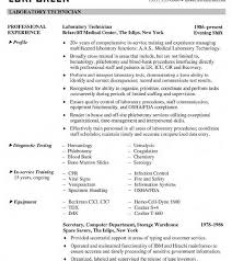 Resume Template Free Electronic Technician Samples Medical Lab ...