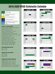 How To Make A School Calendar 2019 2020 Academic Calendar About Us Waxahachie