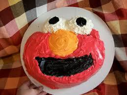 Easy To Make Elmo Cake 5 Steps