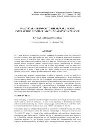 pdf practical approach to shear wall frame interaction considering foundation pliance