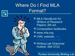 Mla Format Textbooks M L A Format