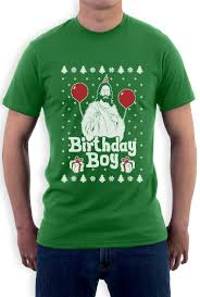 Jesus Birthday Boy Ugly Christmas Sweater T-Shirt | Christmas ...