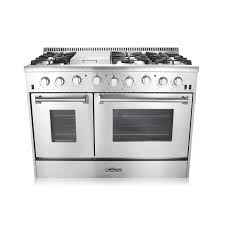 Gas Kitchen Ranges 48 In 67 Cu Ft Double Oven Gas Range With Convection