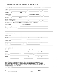 24 Commercial Lease Application Form Full – Nwuvaalio.info