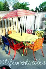 how to re metal patio furniture repainting paint for garden painting refinishing vintage resto