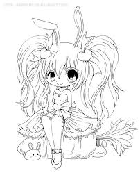 Cute Chibi Anime Bunny Girl Coloring Page Arts Crafts And Diy