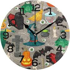 Cartoon Halloween Element Acrylic Wall Clock ... - Amazon.com
