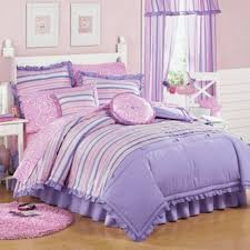 purple girls bedding and pink