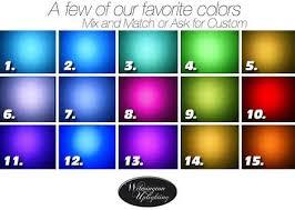 Uplighting Color Chart Wilmington Uplighting Light Color Chart Wilmington Uplighting