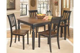 ashley whitesburg dining set. black/brown owingsville dining room table view 1 ashley whitesburg set